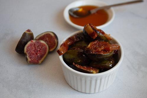 Honey glazed figs & pancetta
