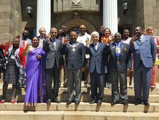 Partner club Harare City Briefs RI President on Footbridge, Shares Construction Progress