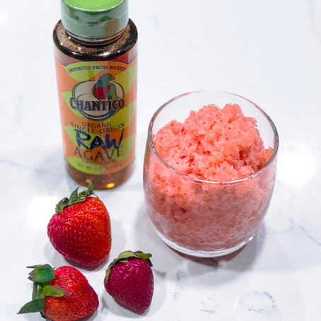Strawberry Agave Granita