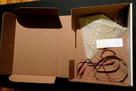Kite in box to be shipped