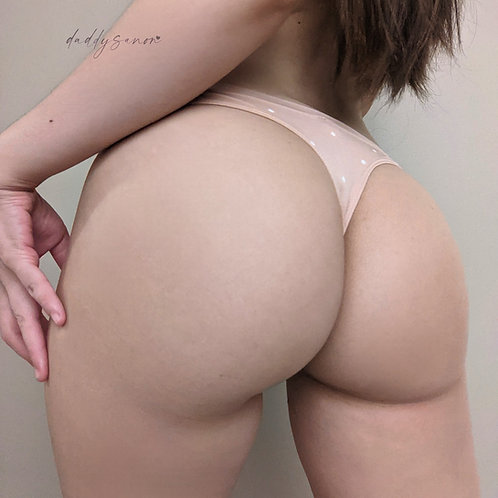 Nude with white dots thong