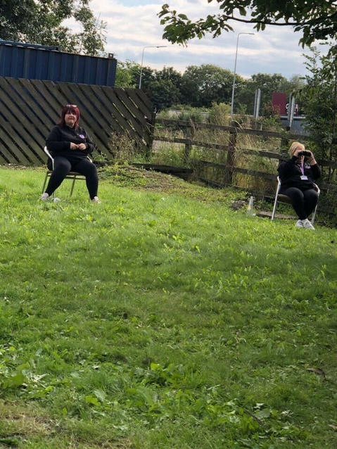 Here are some of our volunteers, spending their August bank holiday weekend attempting to trap a family of cats that had been abandoned on Sandbach motorway service area.