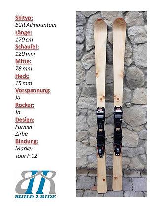 Build2Ride Allmountainski 170 Zirbe Mark