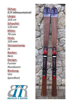 Build2Ride Allmountainski 165 Nuss Speed