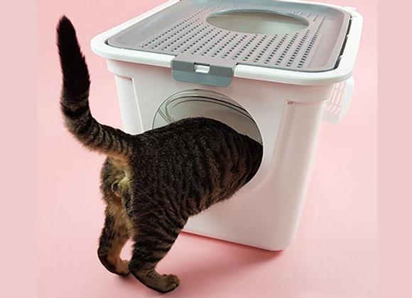 Baño sanitario grande para gatos