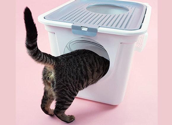 Baño sanitario cerrado para gatos