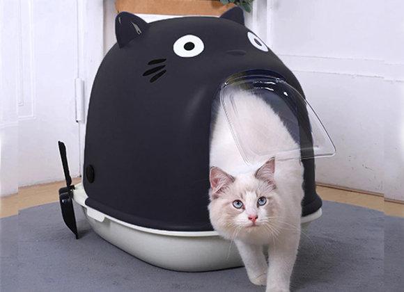Baño sanitario cerrado para Gatos - Diseño Totoro