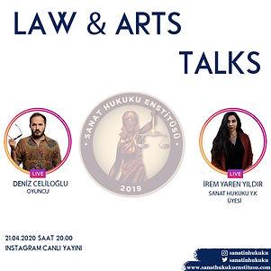 Başarılı oyuncu Deniz Celiloğlu Law&Art Talks programımıza konuk oldu.