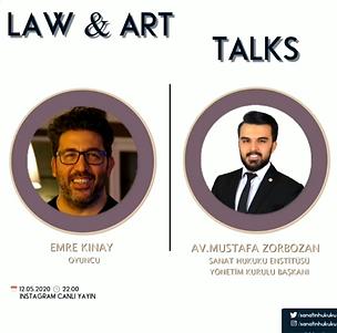 Başarılı oyuncu Emre Kınay Law&Art Talks programımıza konuk oldu.