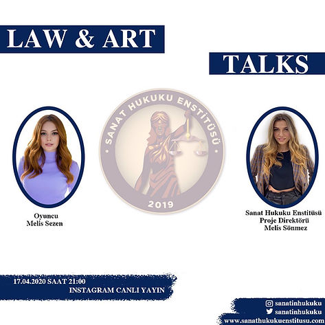 Oyuncu Melis Sezen Law&Art Talks programımıza konuk oldu.
