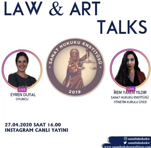Başarılı oyuncu Evren Duyal  Law&Art Talks programımıza konuk oldu.