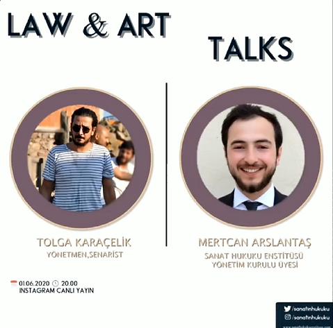 Başarılı Yönetmen/Senarist Tolga Karaçelik Law&Art Talks programımıza konuk oldu.