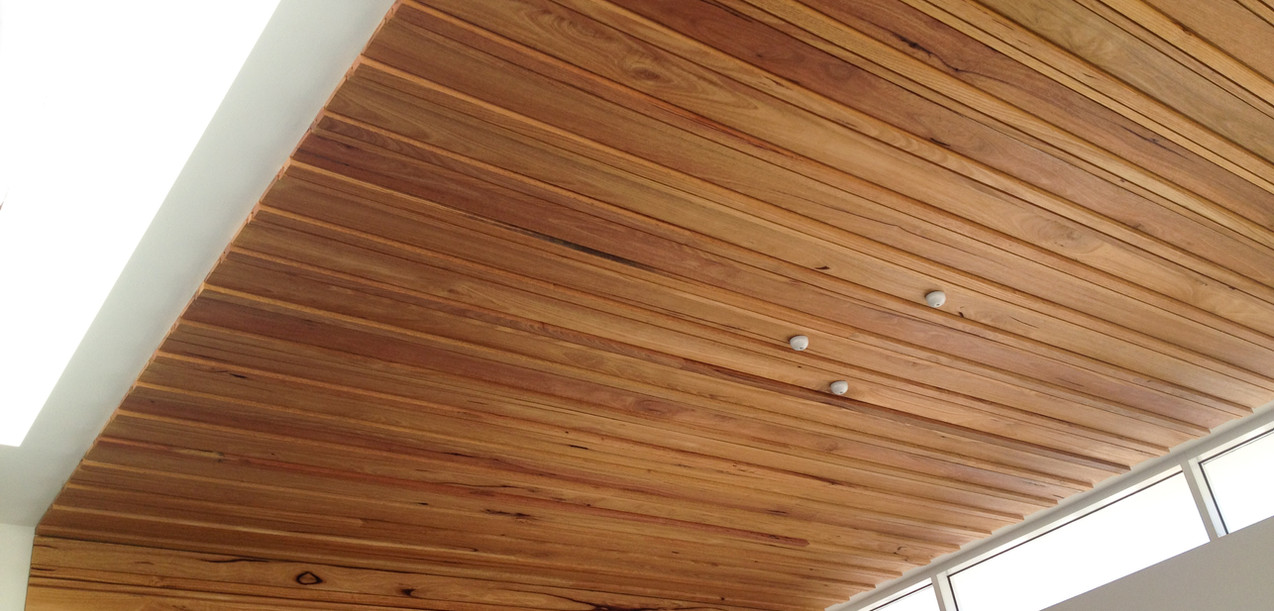 Feature timber ceiling