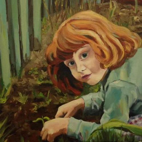 Patricia au jardin