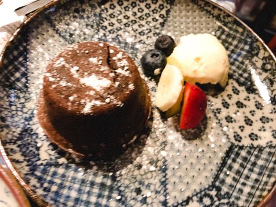 Choco & Matcha Lava cake