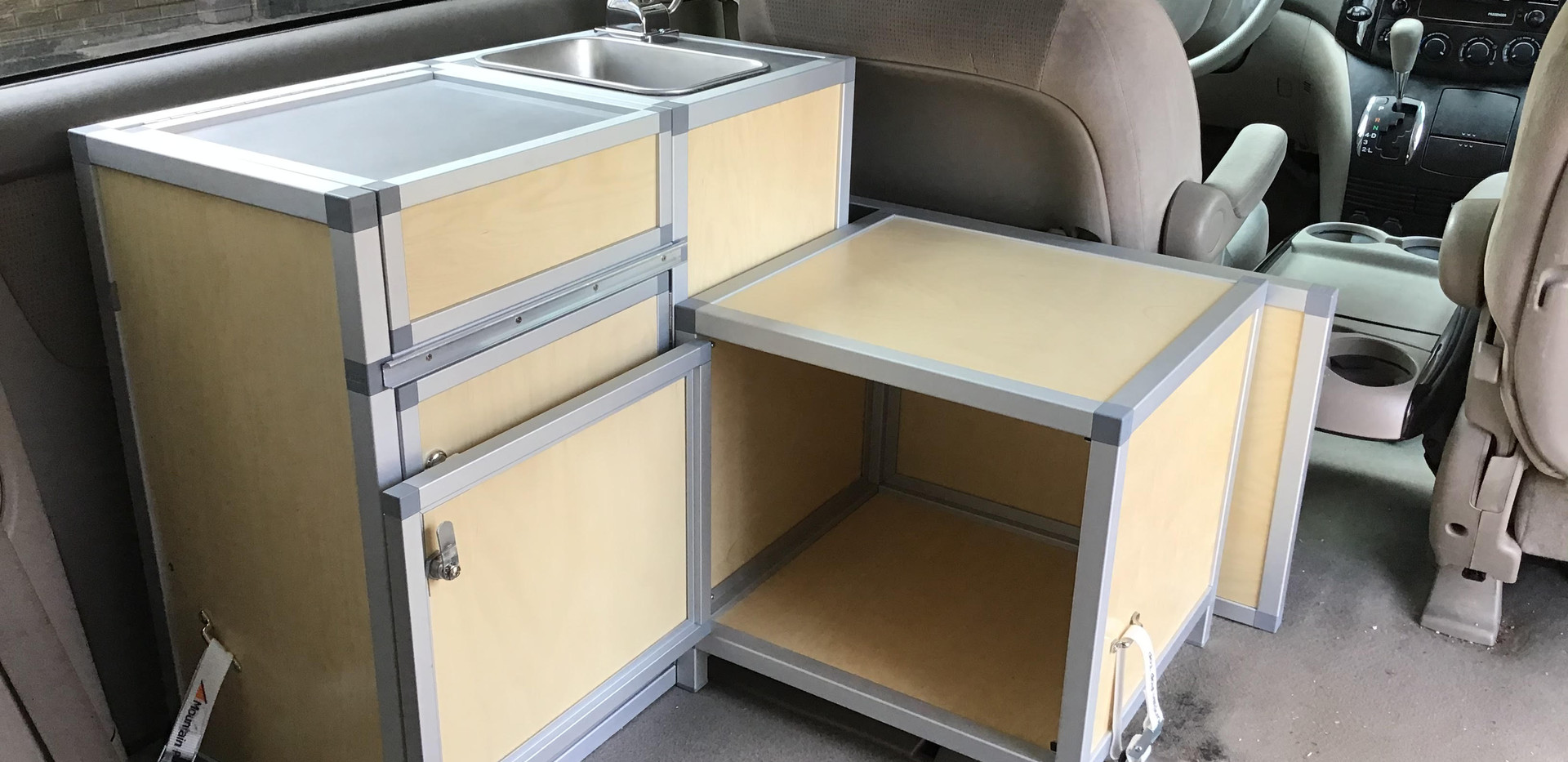 minivan camper kitchen