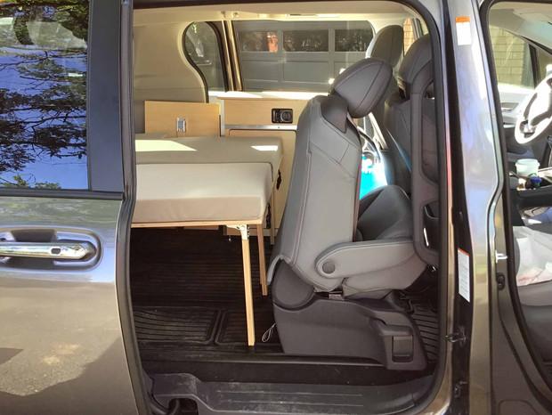 Toyota, Honda minivan camper bed