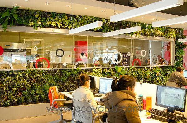 Jardin Vertical, Jardines Verticales, Muro Verde, Muros Verdes, Fachada Vegetal, Arquitectura Sustentable, Arquitectura Bioclimática, Muro Vivo, Ecoyaab