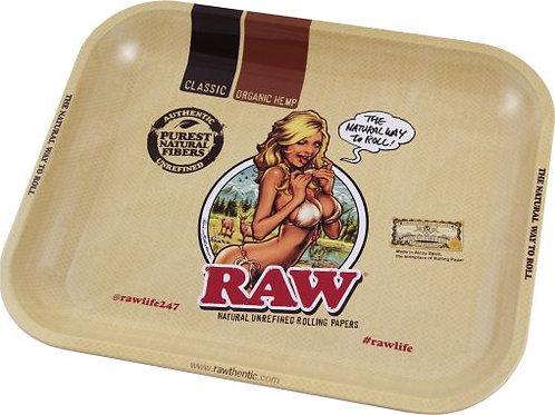 RAW Girl Metal Rolling Tray