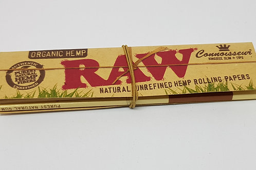 Raw organic hemp king size + tips