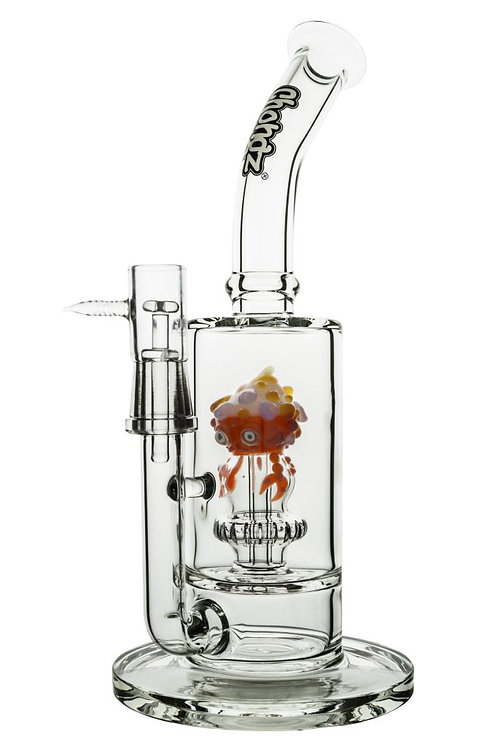 """Glass Chongz """"Strawberry"""" 30cm 2 system waterpipe -red"""