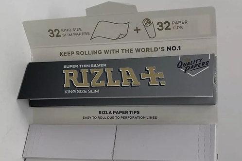 Rizla super thin silver + tips
