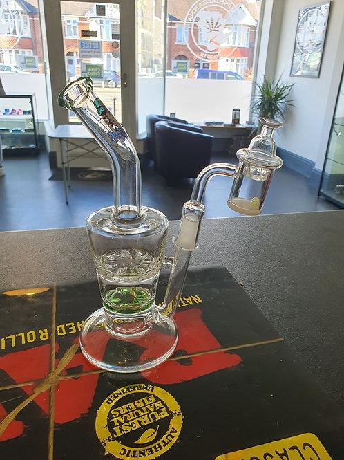 18cm Glass Amsterdam Tornado Disc Oil Bubbler / Dab Rig