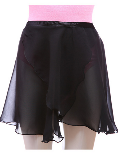 Black Lacing Chiffon Skirt 黑色系带纱裙