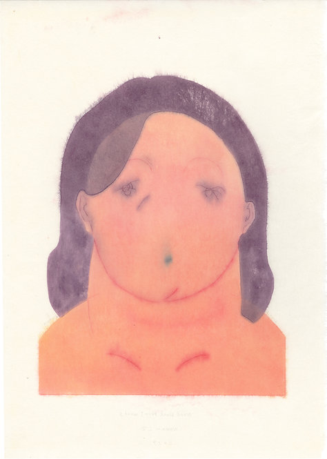 波能 かなみ /  Woodblock print works -Woman_2-