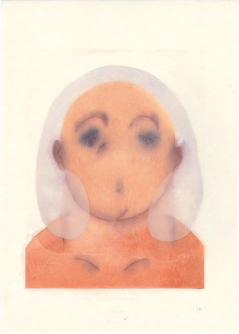 波能 かなみ /  Woodblock print works -Woman_3-