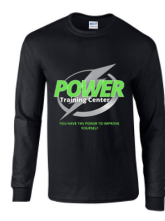 Power Training Center Logo Long Sleeve