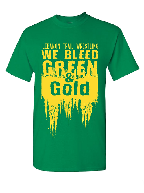 Ring Spun Cotton Bleed Green and Gold