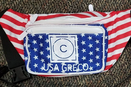 Freestyle or Greco American Flag Fanny Pack