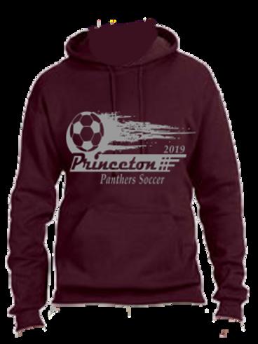 50-50 Blend Hooded Sweatshirt Soccer Ball Logo