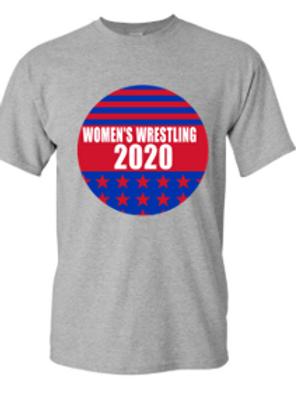 Women's  Wrestling Campaign Button