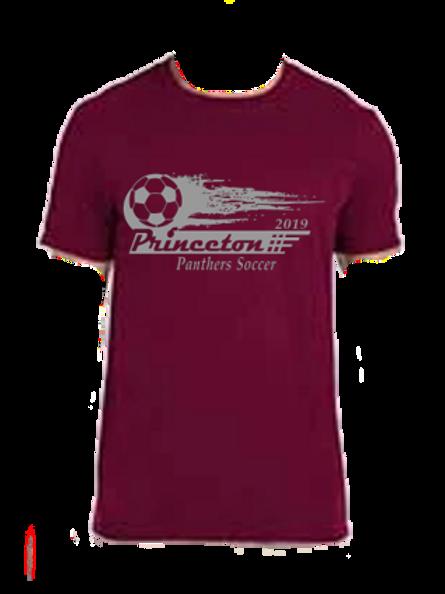 Ring Spun Cotton Short Sleeve Soccer Ball Logo