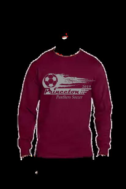 Long Sleeve 50-50 Ring Spun Soccer Ball Logo
