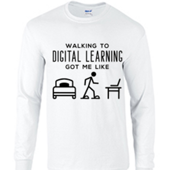 Long Sleeve Walking to Digital Learning