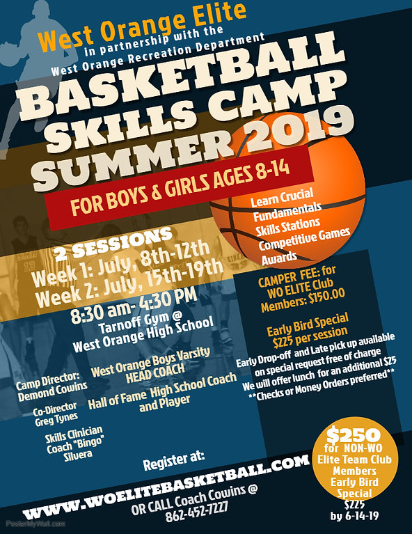 Summer Basketball Camp Flyer Template -