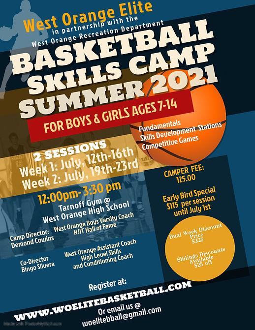 Summer Basketball Camp Flyer 2021 - Made