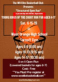 Open run baskteball flyer - Made with Po