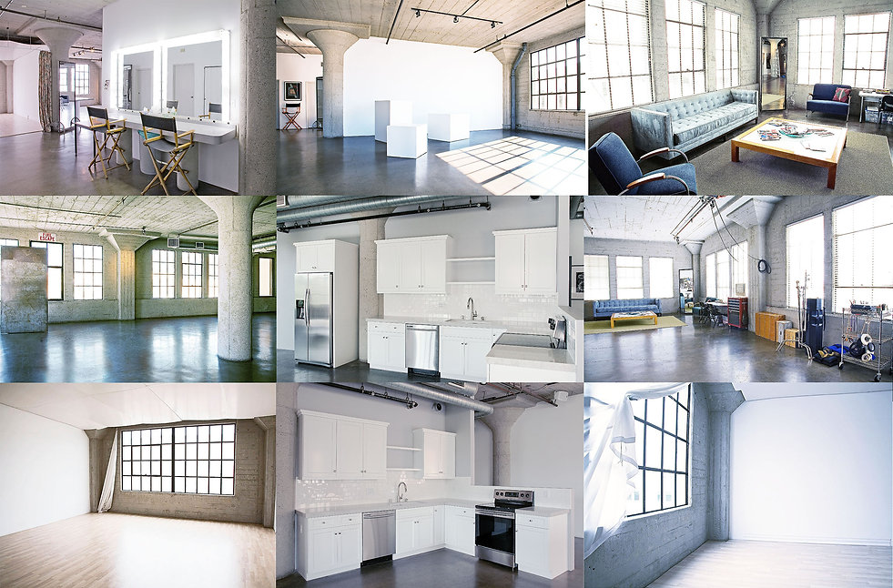 thumbnail collage of studio rooms