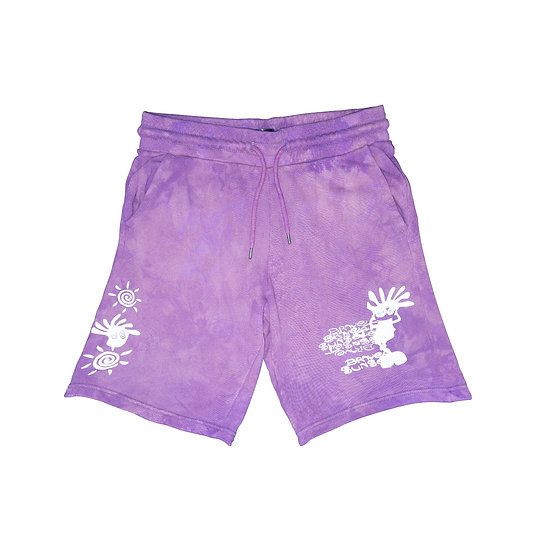 "BRAVE SUNSET Shorts - ""De-stressed Purple"""