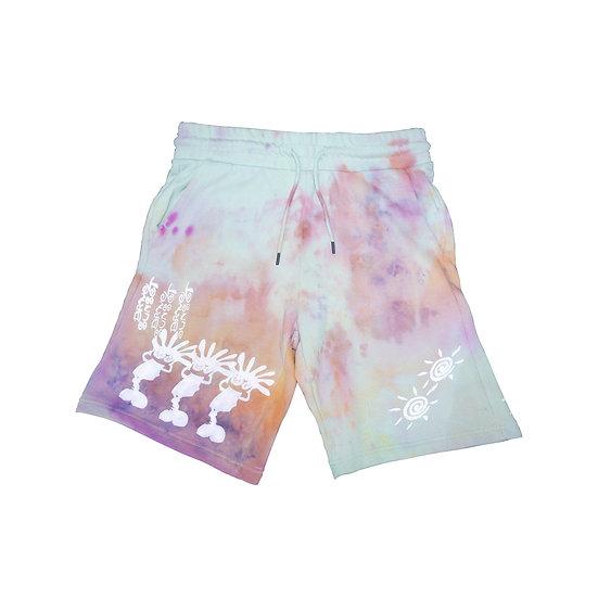 "BRAVE SUNSET Shorts - ""Ice Dyed Lime"""