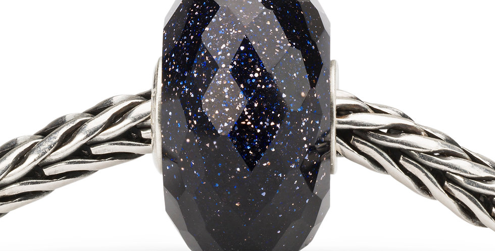 Faceted Blue Goldstone Bead