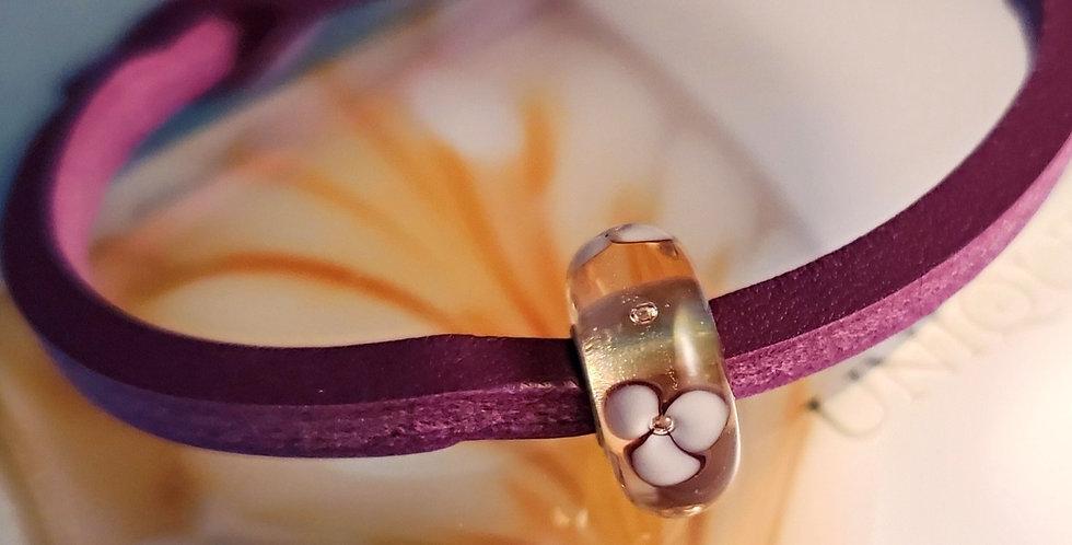Unique Leather Bracelet, Sumac