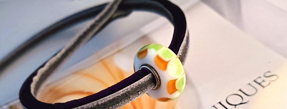 Unique Leather Bracelet, Black Pepper