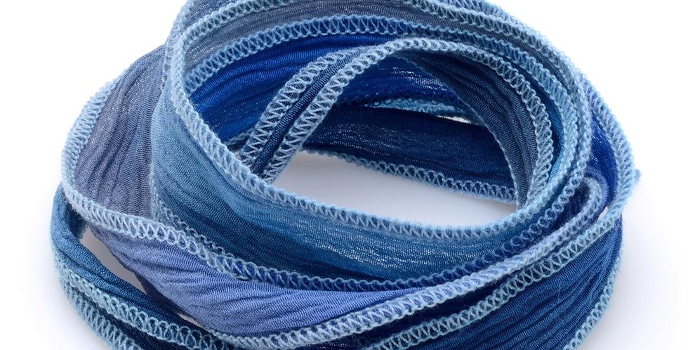 Blue Jeans Fade Silk Wrap