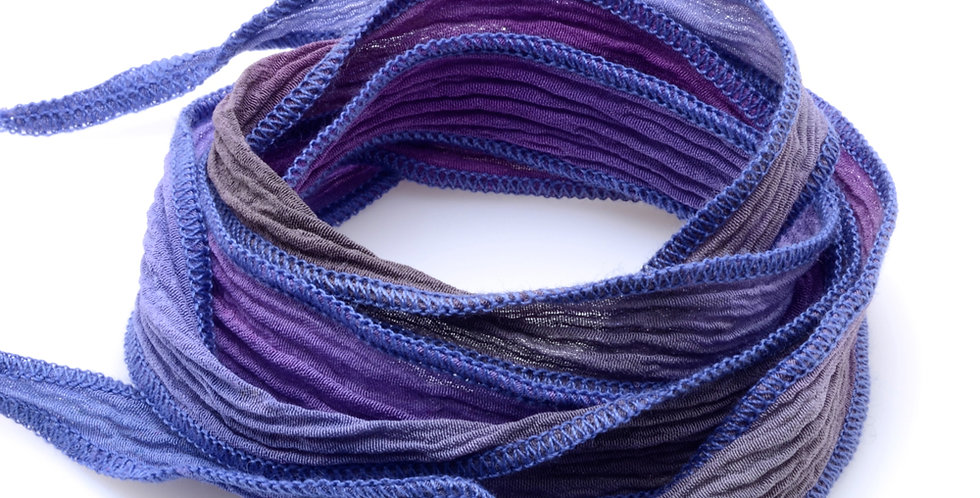 Purple Fade Silk Wrap