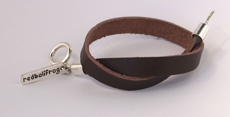 Brown Leather Strap Bracelet